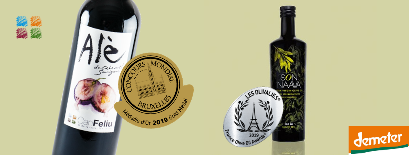 Can Feliu Biodynamic Wine and Olive Oil Awarded Gold and Silver Medals